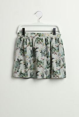 Printed Reversible Skirt
