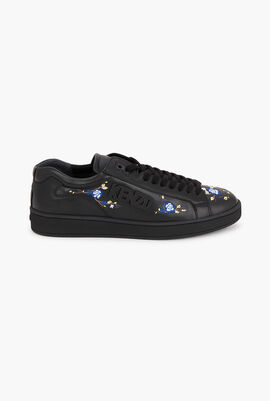 Tennix Floral Embroidered Sneakers