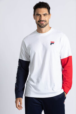 Graphic Colour Block Long Sleeves Tee