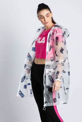 Celestia Clear Logo Rain Jacket