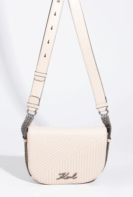 Leather Bag Signature With Corduroy Effect