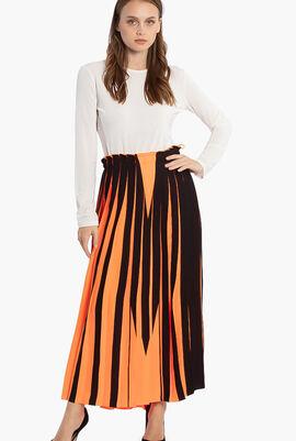Pleated Long Skirt