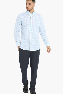 Text Two Tone Gingham Classic Fit Shirt
