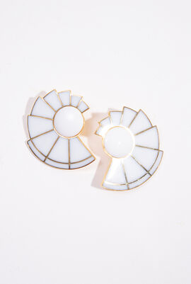 Nautilus Fan Clip Earrings