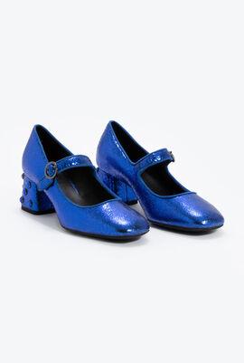 Seyla B Leather Mary Jane Pumps