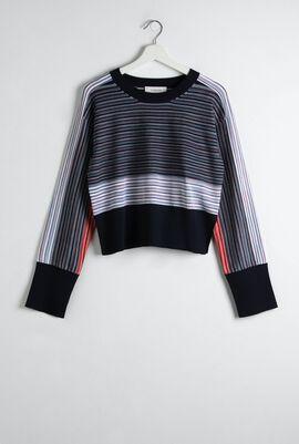 Ornato Stripe Cropped Sweater