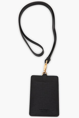 Revival Gancini Card Case with Lanyard