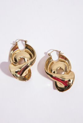 Locked Pave Hoop Earrings
