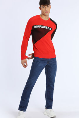 Embossed Design Pullover