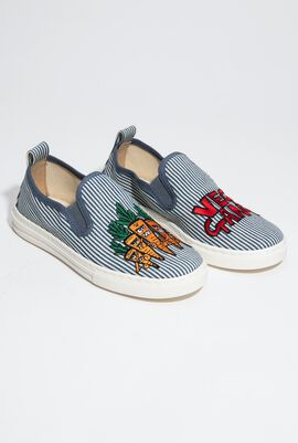 Embroidered 'Veg Gang' Sneakers for Boys