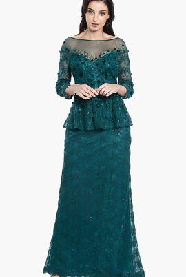 Peplum Long Gown