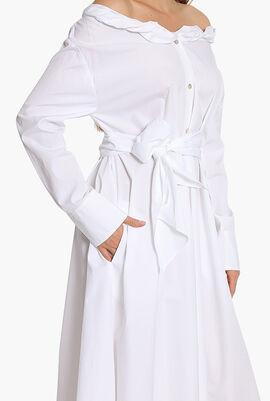 Collar Roll Up Long Dress