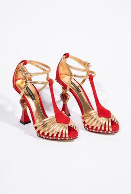 Heart Sculptured Heel Women's Sandals