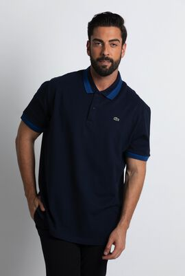 Contrasting Band Slim Fit Polo