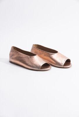 Open Toe Ballerina Flats