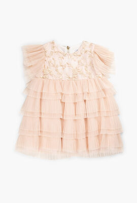 Embroidered and  Ruffles Dress