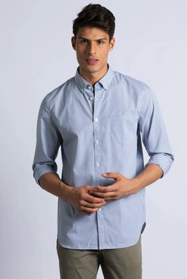 Regular Fit Mini Check Poplin Shirt