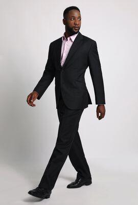 Plain Dark Grey Wool Men's Suit