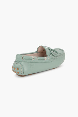 Velour Leather Moccasins