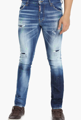 Worn Out Design Jeans