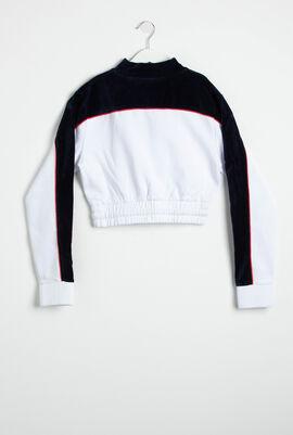 Mock Collar Crop Pullover