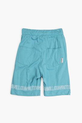Cotton Drawstring Waist Shorts