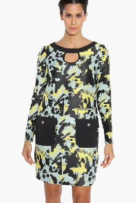 Jacquard Long Sleeve Dress