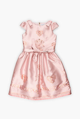 Metallic Embroidery Jacquard Dress