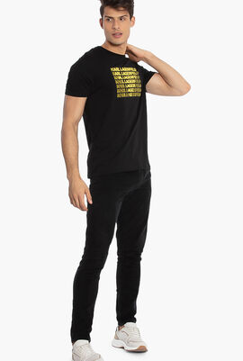 Rubber Logo Crew-Neck T-Shirt