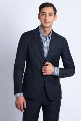 Micro Jacquard Navy Suit