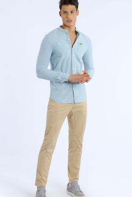 Chinese Collar Dyed Long Sleeves