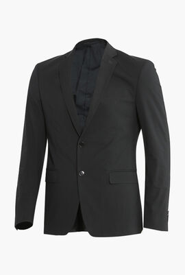Solid Double Buttoned Jacket