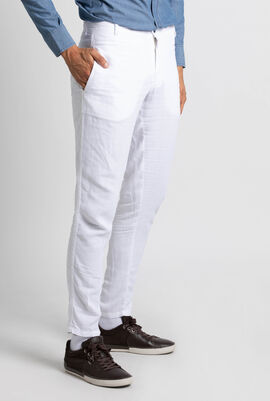 Panache Straight Linen Trousers