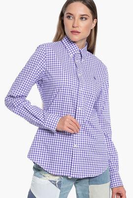 Slim Fit Checkered Long Sleeve Shirt