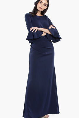 Umpet Sleeves Long Gown