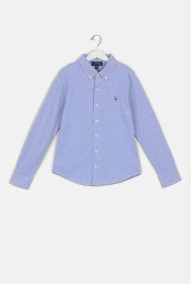 Heather Blue Long Sleeve Shirt