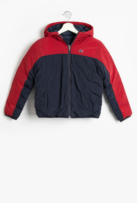 Hooded Colourblock Quilted Jacket