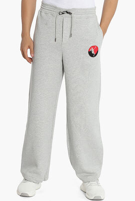 Embroidered Patch Sweatpants