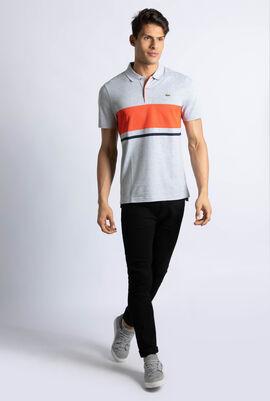 Mesh Panel Ultra Light Cotton Tennis Polo Shirt