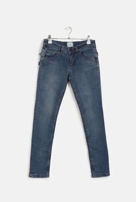 Overlay Trim Stretch Jeans