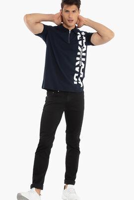 Logo Zip Polo Shirt