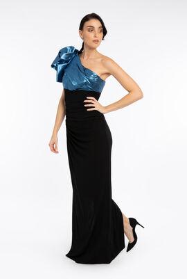 Bicolor Off Shoulder Dress
