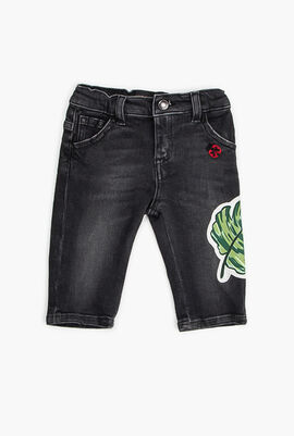 Leaf Patch Jeans