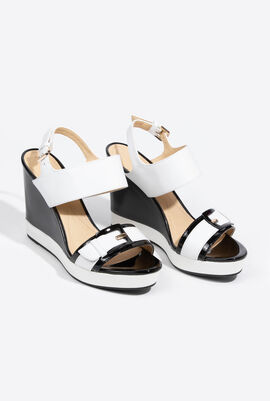 Janira Leather Wedge Sandals