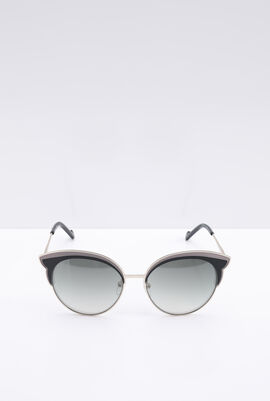 Round Black Women's Sunglasses