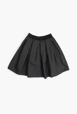 Pleated Flannel Skirt