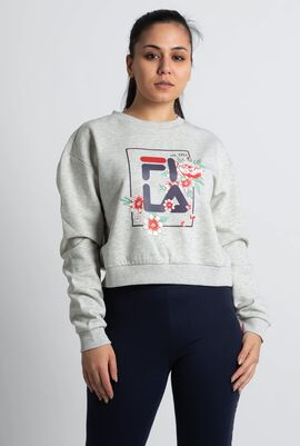 Graphic Cropped Sweatshirt