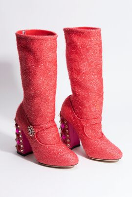 Bejeweled Mary Jane Boots