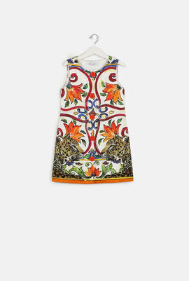 Maiolica Printed Sleeveless Dress