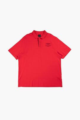 Lettering Collar Polo Shirt